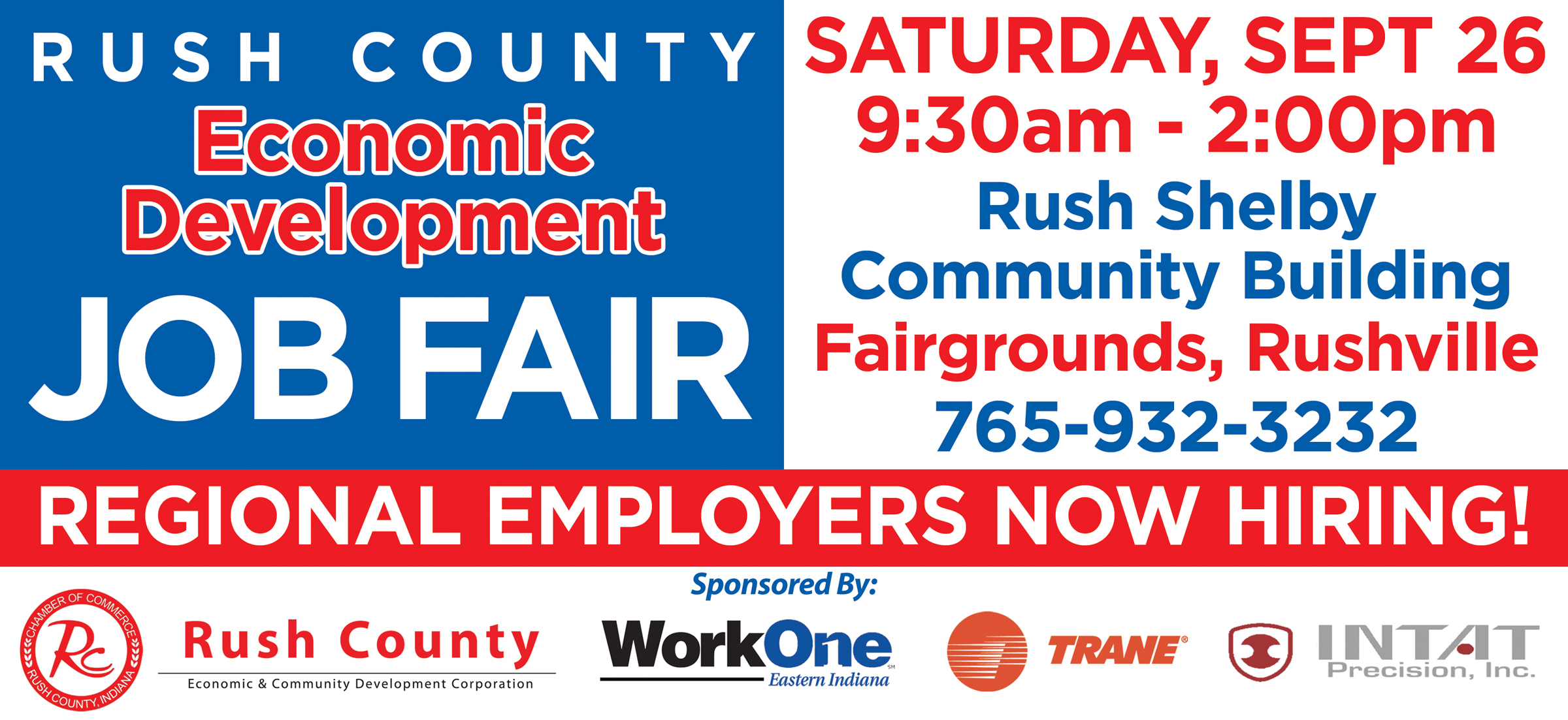 Rush County ECDC Coordinates JOB FAIR Meeting The Needs Of Area - Us counties coordinates